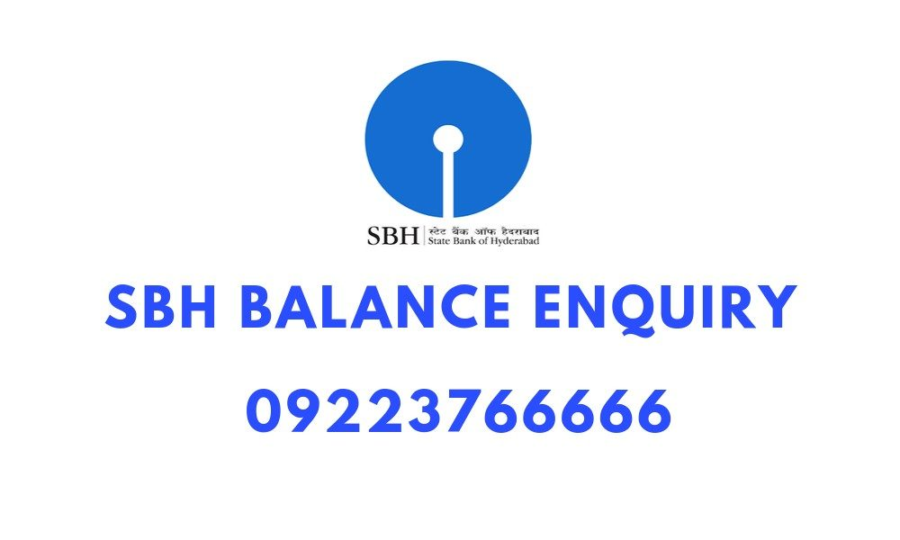 SBH Missed Call Bank Balance Dial 09223766666