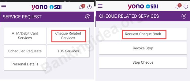 How To Request Sbi Cheque Book With Sbi Yono App