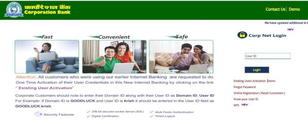 Activate Existing Corpnet Bank Users